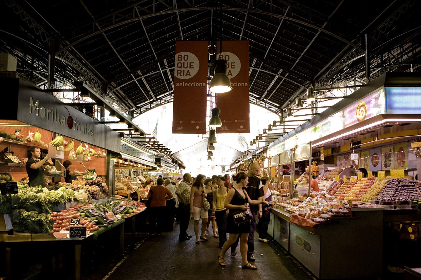 mercat boqueria cerca de parkingviajeros